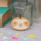 Wooden Sloth Necklace