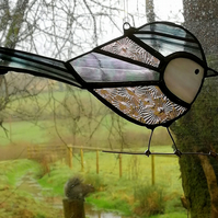 Stained Glass Long Tailed Tit