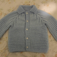 Knitted Baby Blue Cardigan