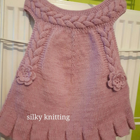 Pink Knitted Dress