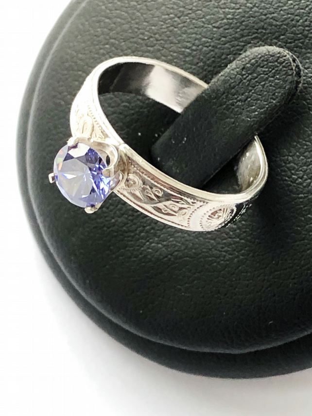 The Blue Moon Iolite Gemstone Ring (Inspired by Music)