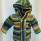 Child's Colourful Hoodie Knitting Kit 3-4 years