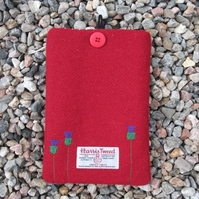 "Harris Tweed Kindle & 7"" Tablet Cover - Thistles - Free UK Delivery"