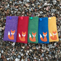 Harris Tweed Phone cover - Mr Fox - Free UK Delivery