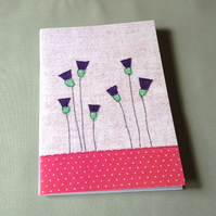 Thistles Notebook, A5 Notebook, Large Notebook, Sketchpad, Free UK Delivery