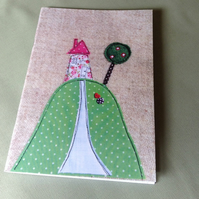 House on Hill Notebook, A5 Notebook, Large Notebook, Sketchpad, Free UK Delivery