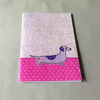 Daschund Notebook, A5 Notebook, Large Notebook, Sketchpad, Free UK Delivery