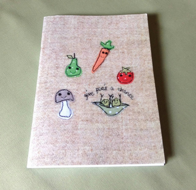 Recipes Notebook, A5 Notebook, large notebook, plain pages, sketchbook