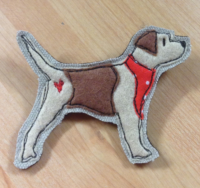 Border Terrier felt brooch, border terrier pin