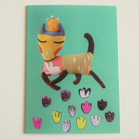 Princess Textile Cat Creature Card