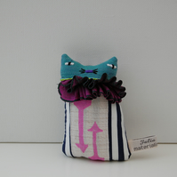 KITTEN Textile Art  Soft Sculpture -  called Gertie