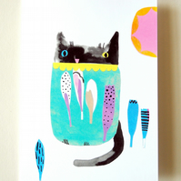Cat Greeting Card - Digital Print - Any Occasion