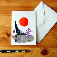 Bird Collage Greeting Card - Any Occasion