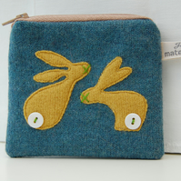 Bunnies Coin Purse - Teal