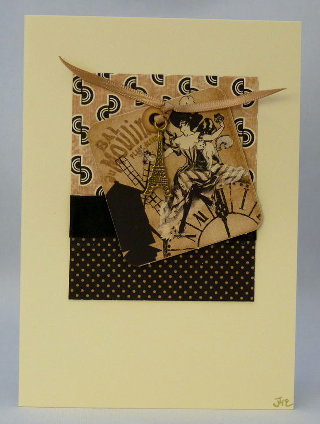 Handmade Card - Moulin Rouge