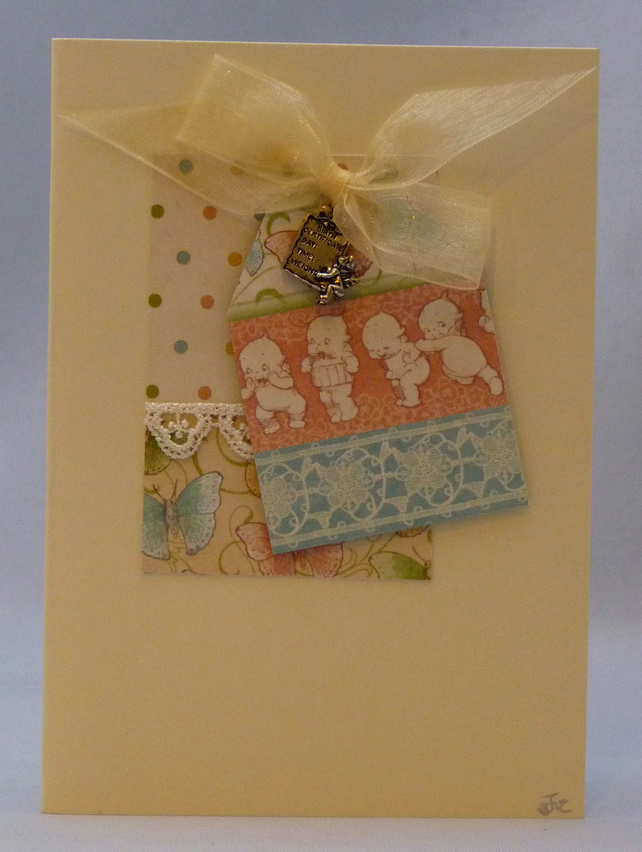Handmade Card - New Baby Girl