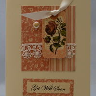 Handmade Card - Get Well Soon