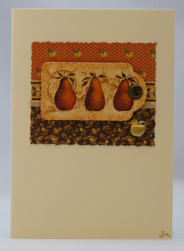 Handmade Card - Apples and Pears