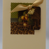 Handmade Card - Vintage Fruits