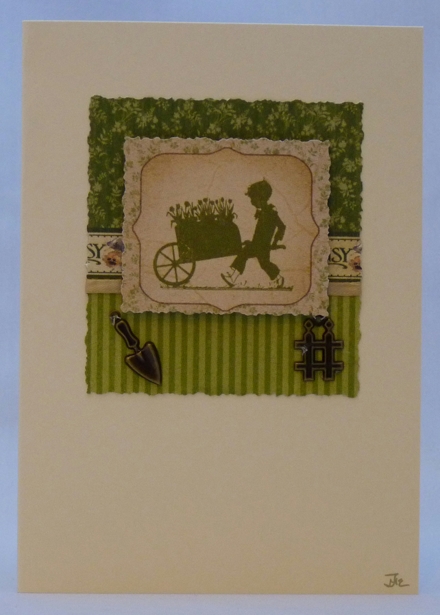 Handmade Card - Gardening Time