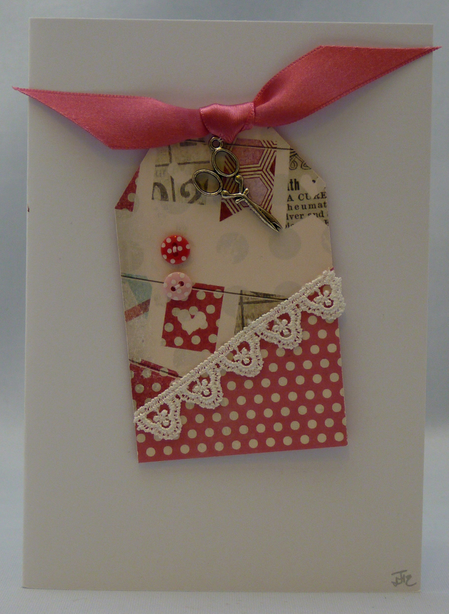 Handmade Card - Time to Sew