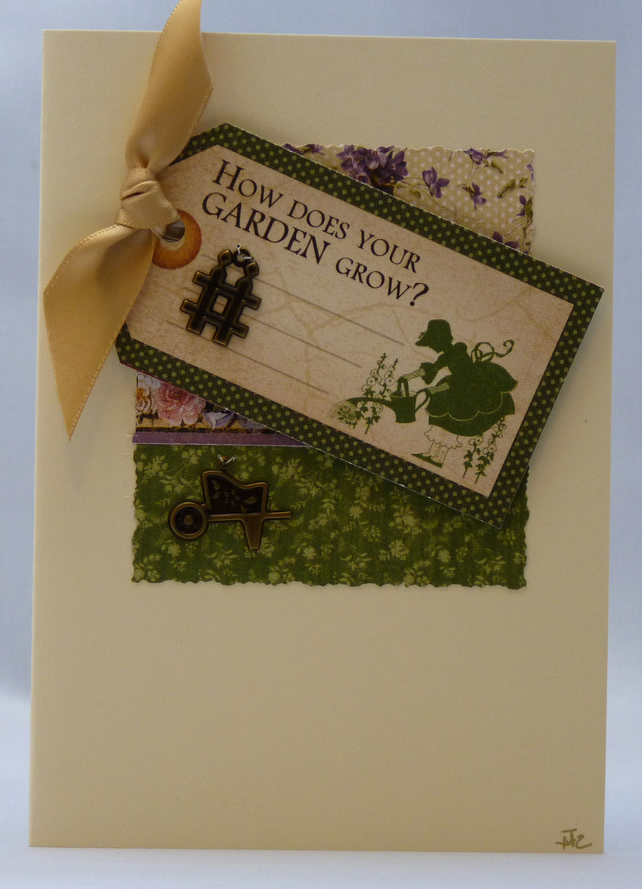 Handmade Card - How does your garden grow