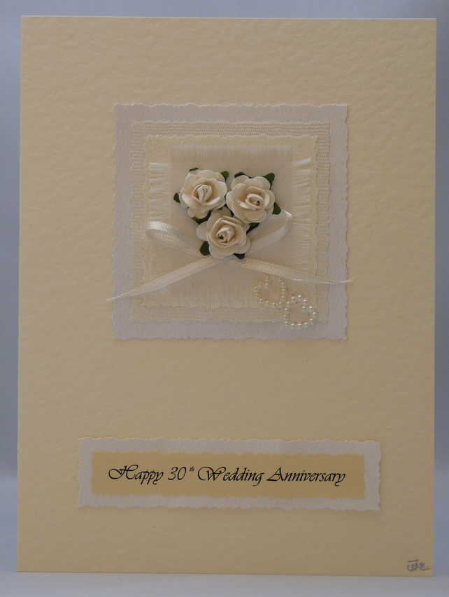 Handmade Card - Pearl Wedding