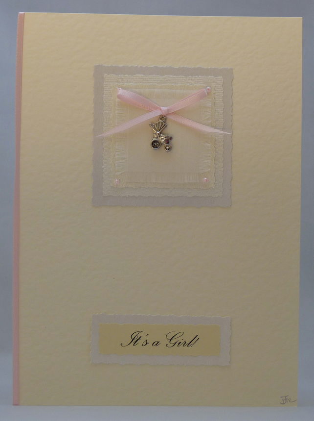 Handmade Card - It's a Girl