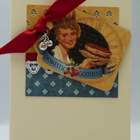 Handmade Card - Baking Goddess