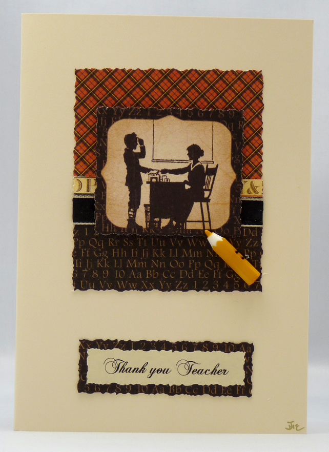 Handmade Card - Thank You Teacher