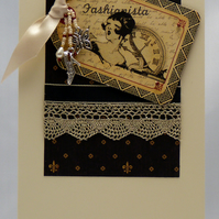 Handmade Card - Fashionista
