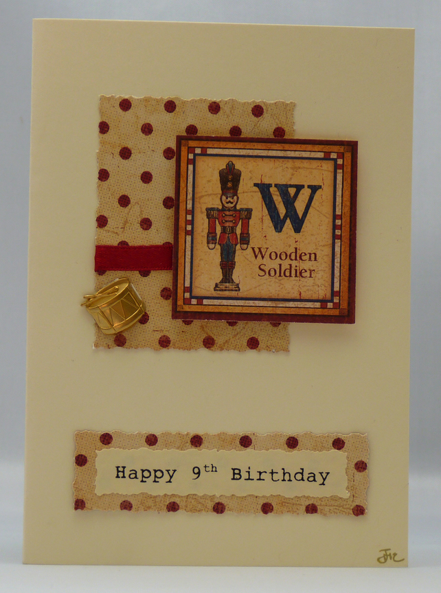 Handmade Card - Soldier and Drum