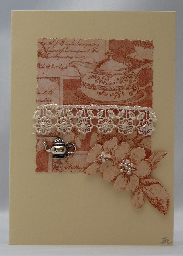 Handmade Card - Time for Tea