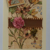 Handmade Card - Cameo and Roses