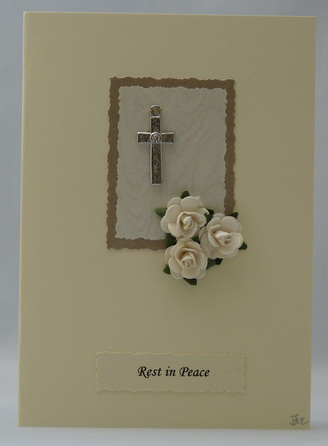 Handmade Card - Rest in Peace