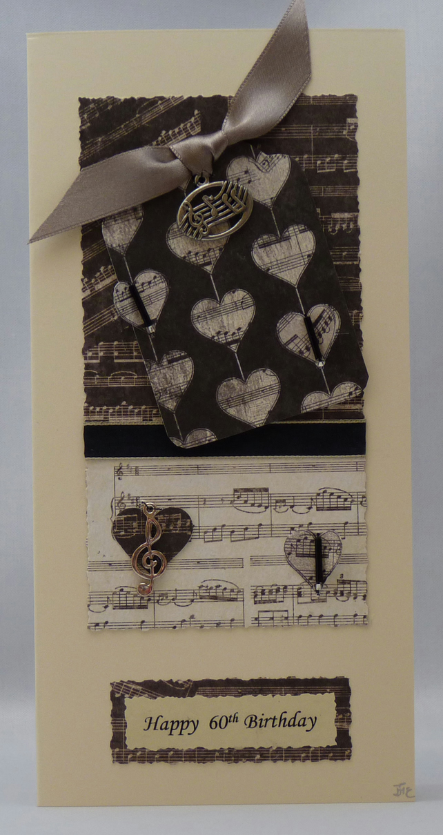 Handmade Card - Love music, love life