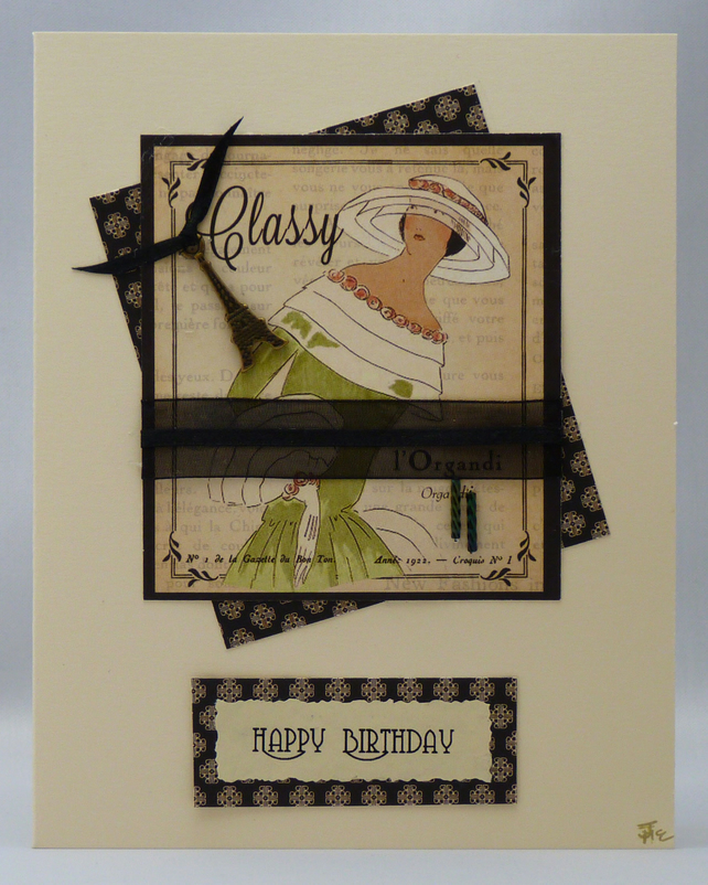 Handmade Card - Couture No. 7
