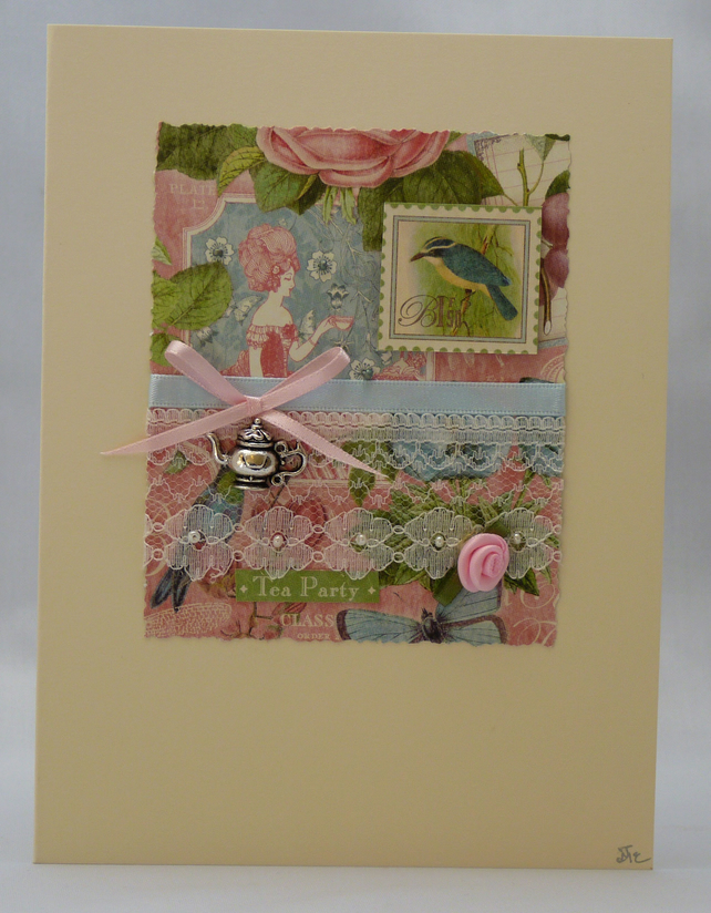 Handmade Card - Tea Party