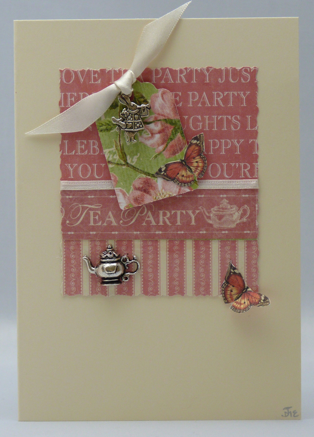 Handmade Card - Mad Hatter's Tea Party