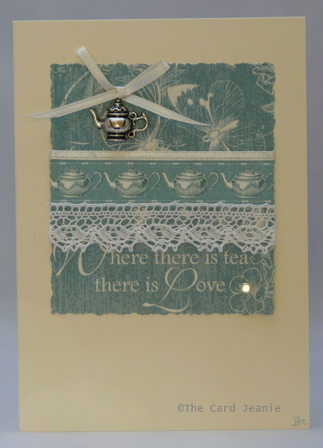 Handmade Card - For the love of Tea