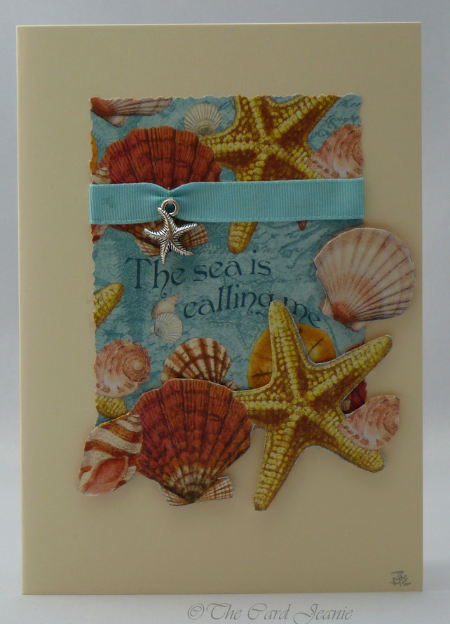 Handmade Card - The Sea is calling me