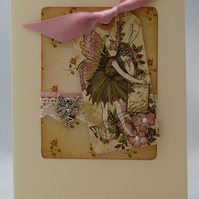 Handmade Card - Friends with the Fairies