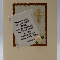 Handmade Card - Adult Baptism