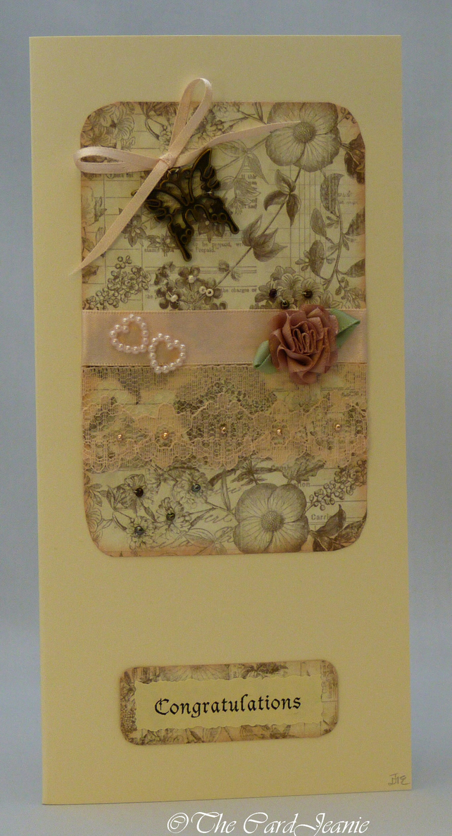 Handmade Card - Romance and Roses