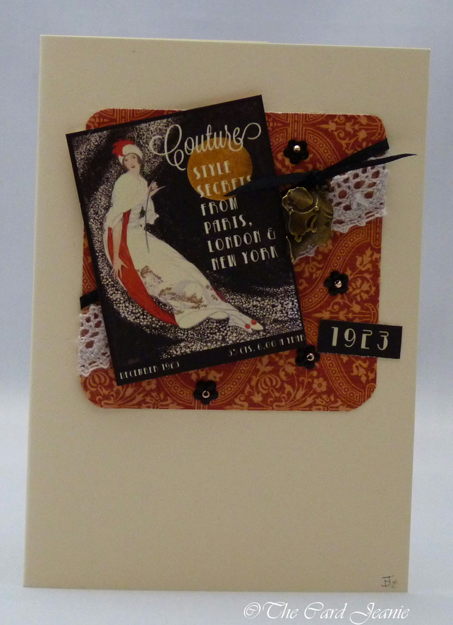 Handmade Card - Couture No.12