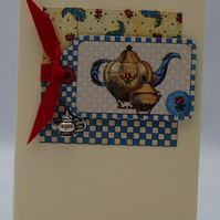 Handmade card - Doll's Tea Party