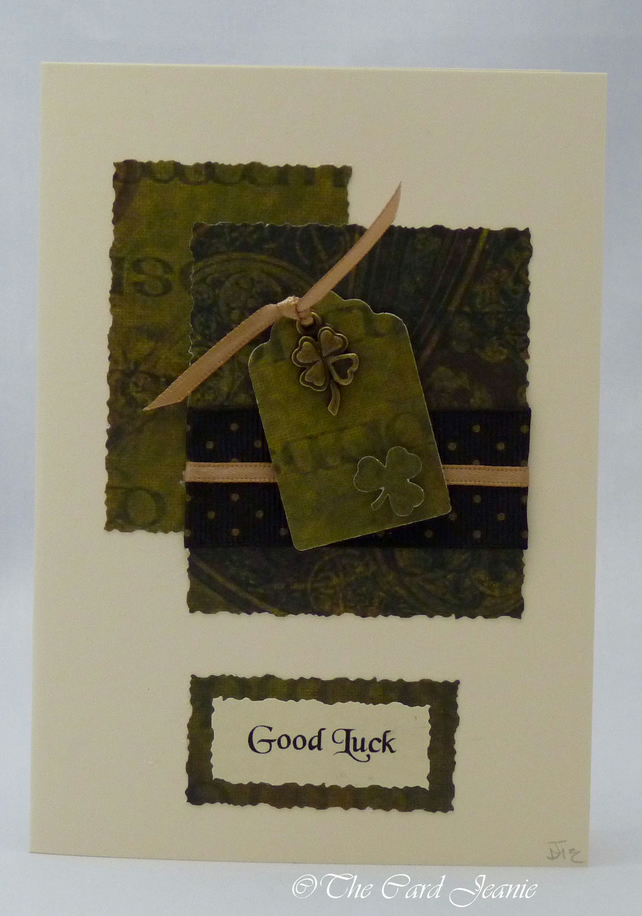 Handmade Card - Good Luck