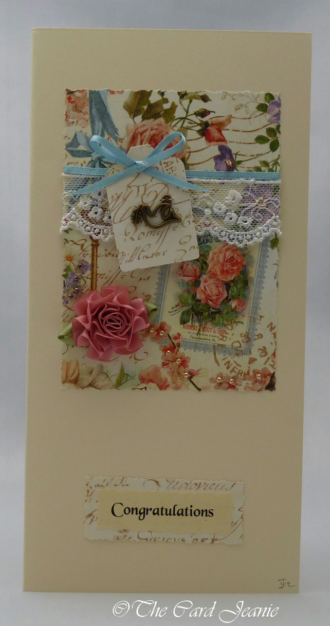 Handmade Card - Wedding Wishes