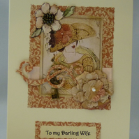 Handmade Card - Darling Wife's Birthday