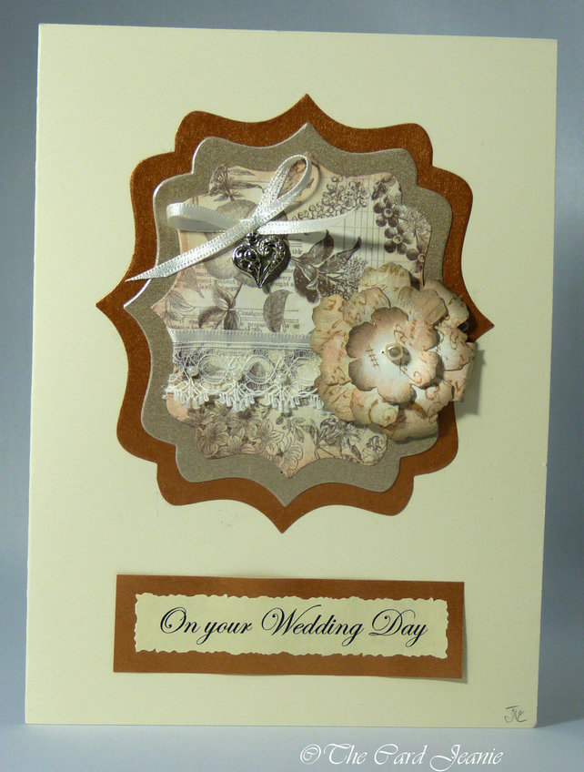 Handmade Wedding Card - Vintage Wedding